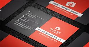 44 premium business card templates for professional photographers