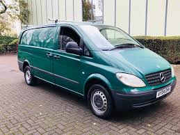 green mercedes benz 2004 mercedes benz vito 109 21 cdi long panel van green no vat