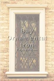 bay ornamental iron window treatments