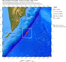 Earthquake Incident Map Strong And Shallow Earthquake M6 1 Hit East Of Kuril Islands Russia