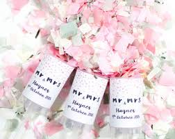salt water taffy wedding favor set of 50 wedding favors confetti poppers mr mrs wedding