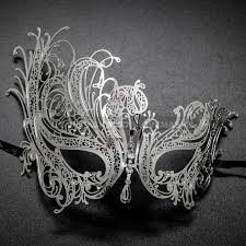 white masquerade masks for women venetian swan party masquerade mask with rhinestones and bling silver