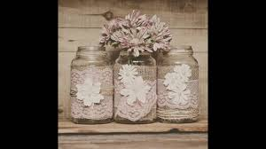 jar centerpieces rustic jar centerpieces with wood table numbers