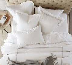 3 ways to make an all white bed pottery barn