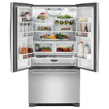 Stainless Steel Refrigerator French Door Bottom Freezer - jenn air french bottom freezer refrigerator jfc2290rem