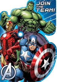Superhero Invitation Card Marvel Avengers Superheroes Invitations 8ct Avengers