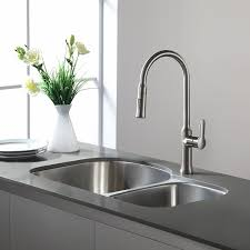 kitchen faucet stainless steel kraus kpf 1630ss nola single lever pull kitchen faucet