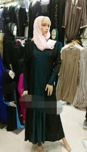 exclusive diamond color blocking long dress muslim women prayer