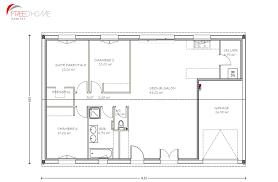 plan maison simple 3 chambres plan maison 90m2 avec garage