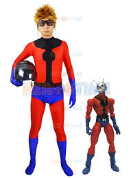 Superhero Halloween Costumes Men Spandex Marvel Ant Man Superhero Costume Fullbody Halloween