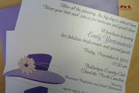 bridesmaids luncheon invitation wording emily bridal luncheon hats happiness