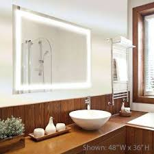 Led Light Bathroom Backlit Mirror Led Light Bathroom Mirrors Bath The Home Depot