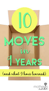 10 moves in 9 years and what i have learned move pack