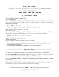 Resume Title Examples For Entry Level by Tractor Trailer Driver Resume Sample Free Download Vinodomia