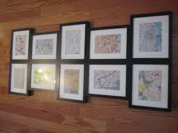 How To Hang A Map Without A Frame by The Wifestylist Get Up Its First Of Pull All Paper Tracings Off