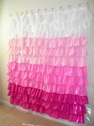 bathroom white cotton ruffle shower curtain for bathroom pink ombre ruffle shower curtain for bathroom decoration ideas