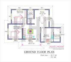 Free Modern House Plans by Kerala Model House Plans Free 3103