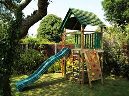 bespoke wooden garden playhouses and climbing frames for children