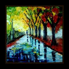 lost in the color of rain oil painting touchtalent for