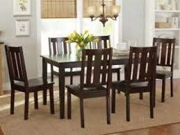 6 pc dinette kitchen dining room set table w 4 wood chair 7 pc mocha dining room set wood kitchen furniture table 6 chairs