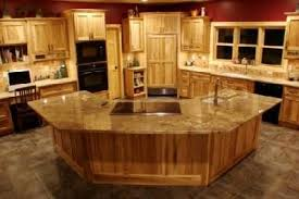 Hickory Kitchen Cabinets Starmark Hickory With Toffee Stain Hutch Hickory Kitchens