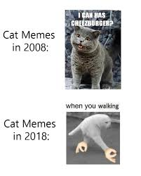 Meme Vs Meme - cat memes in 2008 vs cat memes in 2018 4chan cheezburger inc
