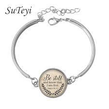 faith bracelets suteyi 2017 christian jewelry jesus bracelet silver chain bracelet