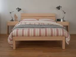 Solid Wood Bedroom Furniture A Solid Wood Bed Frame Combines Traditional Med Art Home Design