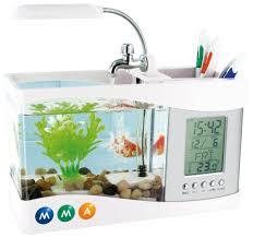 horloge a personnaliser mini aquarium avec circulation eau et pendulette a personnaliser