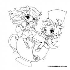 free printable chibi coloring pages for kids coloring home