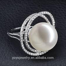 big rings designs images Elegant wedding designer rings silver gold plated white crystal jpg