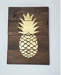 signs home decor pineapple decor personalized wall sign home kitchen