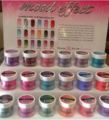 new mood effect changing color acrylic powders are now available