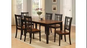 Vintage Dining Room Sets Vintage Dining Room With Wooden Rectangular Table Set Under 200 6