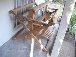 weaving loom floor vintage kessenich 6 pedal large wooden