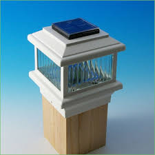 Solar Deck Lights Lowes - lighting solar powered post lamp fixture solar deck post caps