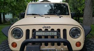 tactical jeep carc tan paint completed jeep