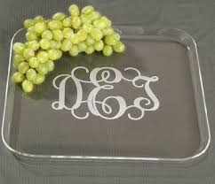 monogramed tray monogrammed acrylic square tray the monogram merchant