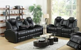 Microfiber Reclining Sofa Sets Living Room Black Leather Reclining Sofa And Loveseat Sofa Set