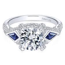 white stones rings images 18k white gold round 3 stones halo diamond a quality sapphire jpg