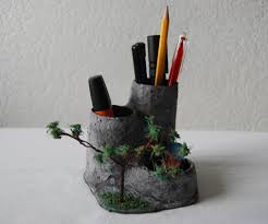 miniature landscape pencil holder 7 steps with pictures