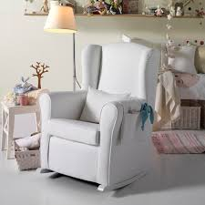 Infant Armchair Nursing Chair In White Leatherette Nursing Chairs Cuckooland