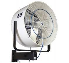 wall mounted rotating fan schaefer vf36w sat b versafog wall mount oscillating hp misting fan