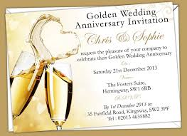wedding invitations golden wedding anniversary invitation