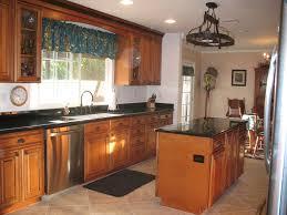 Maple Kitchen Cabinets With Granite Countertops Marble Countertops With Hickory Cabinets Maple Whiskey Black