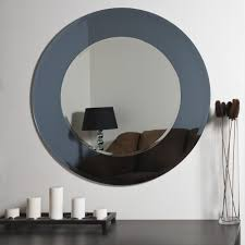 decor wonderland camilla round modern bathroom mirror beyond stores