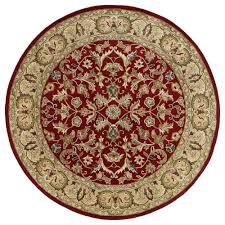 kaleen mystic william red 5 ft 9 in x 5 ft 9 in round area rug