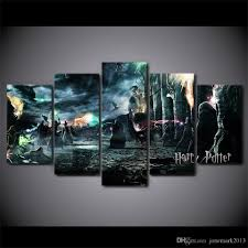 Home Decor Canvas Art 2017 Canvas Art Harry Potter Deathly Hallows Movie Poster Hd