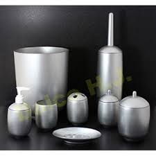 taiwan acrylic silver bathroom accessories set utensil