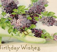 free vintage birthday card lilacs the graphics fairy